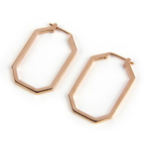 Octagon Hoop, Rose Gold