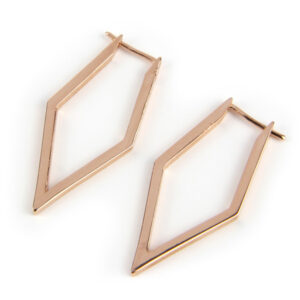 Rhombus Hoop, Rose Gold