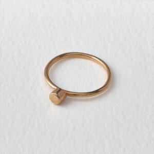 Dot Ring. Rose Gold.