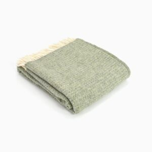 New Wool Blanket Illusion Grey Green