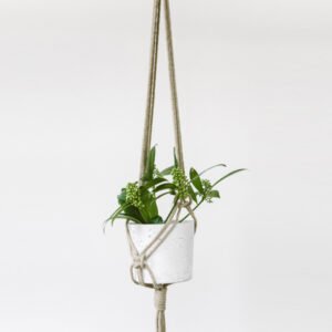 RAW JUTE MACRAME HANGING PLANTER