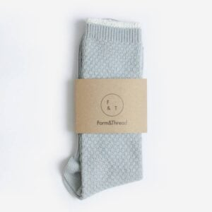 Socks, Silver Grey textured Knit