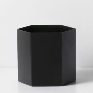HEXAGON POT - black, LARGE