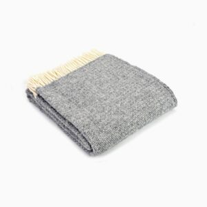 New Wool Blanket Illusion Grey