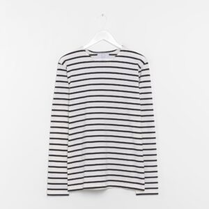 Essential Breton Stripe Tee - White And Navy