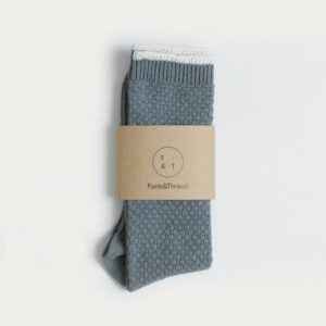 Socks, Mid Grey Textured Knit