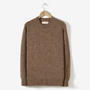 Lambswool Fisherman Jumper, Camel