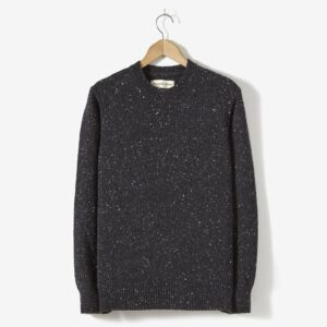 Lambswool Fisherman Jumper, Charcoal