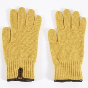 Knitted Glove, Gold