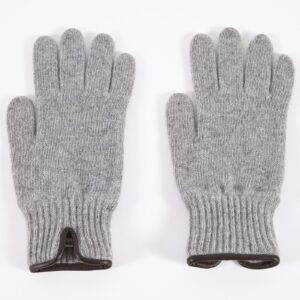 Knitted Glove, Light Grey