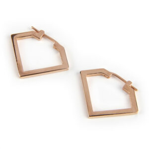 Diamond Hoop, Rose Gold