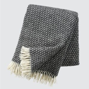 Knut Dark Grey Lambswool Throw