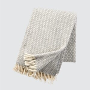Knut Light Grey Lambswool Throw