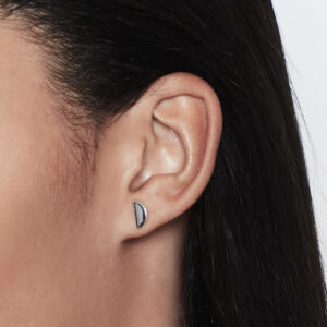 Disc Studs, Silver