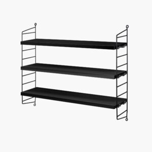 String Pocket Shelf, Black