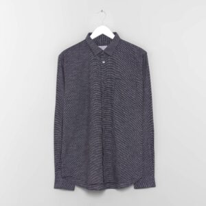 Navy Needlepoint Shirt