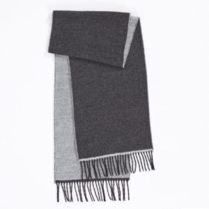 Scarf, White/Charcoal