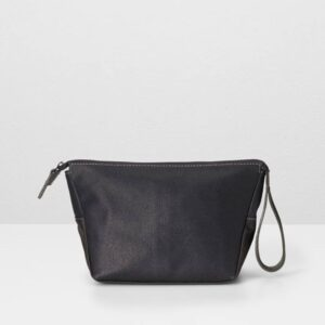 Del Waxed Canvas Washbag, Black