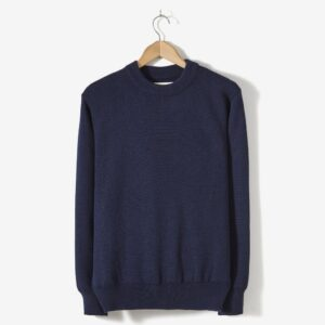 Merino Fisherman Jumper, Navy
