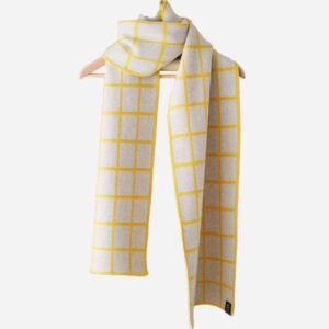 Grid Scarf, Wide, Yellow