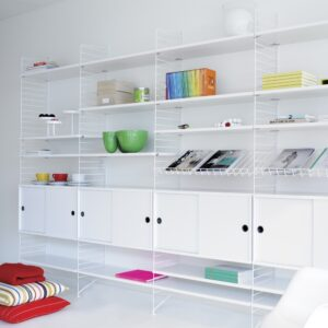 String Shelf System in White & white configuration 2