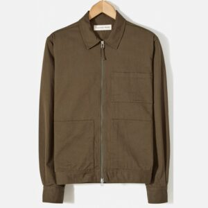 Zip Uniform Shirt, Olive