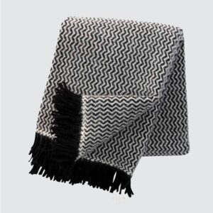 Tango Black Lambswool Throw