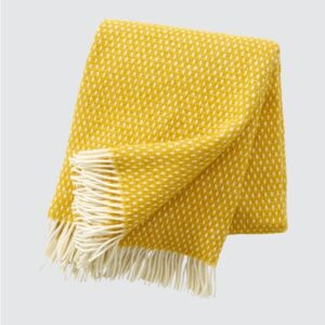 Knut Saffron Lambswool Throw