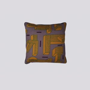 Printed Cushion, NDP, In The Grass Ochre