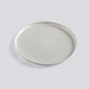 Perforated Tray, Large, Soft Grey