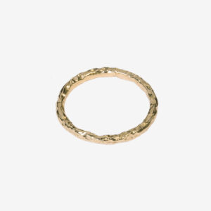 Thin Meteorite Ring Gold