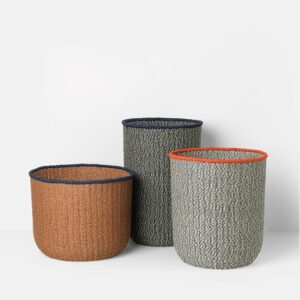 Braided Floor Basket, Set of 3