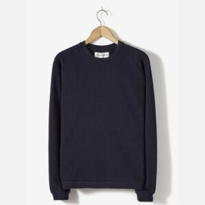Easy Crew In Navy Diagonal Loopback