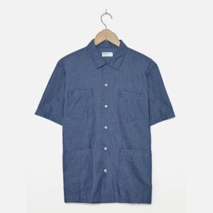 Cuban Shirt in Indigo Pinpoint Denim