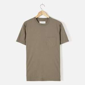 Pocket Tee In Olive Single Jersey