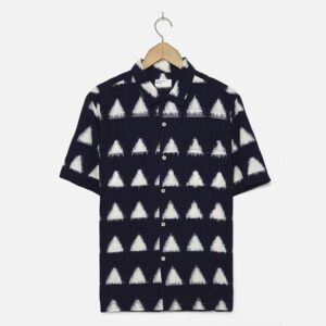 Road Shirt in Navy Ikat Arrow