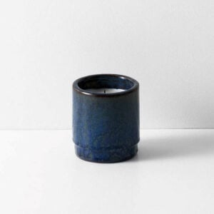 Fig Scented Ceramic Candle, Blue