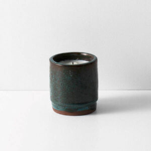 Fig Scented Ceramic Candle, Turquoise
