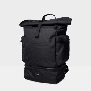 Verner Roll-top  Backpack, Black