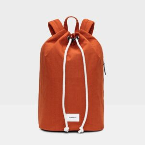 Evert Drawstring Bucket Back-Pack, Rust