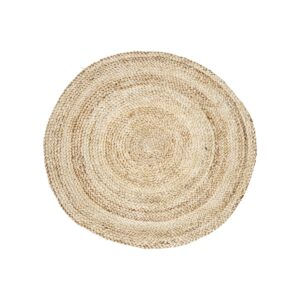 Round Natural Hemp Rug, Ø100cm