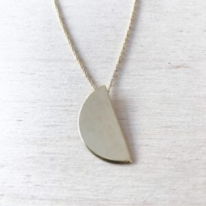 Half Moon Necklace in Gold,  Exclusively for Triangle