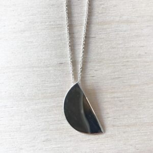Half Moon Necklace in Silver,  Exclusively for Triangle