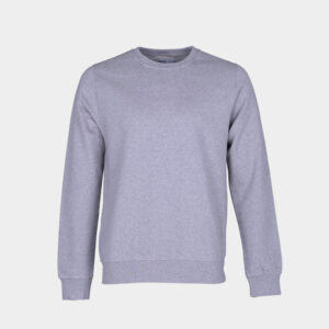 Mens Organic Crewneck in Marl Grey