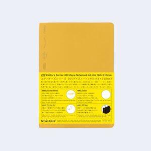 Minimal Half Year Notebook, Yellow