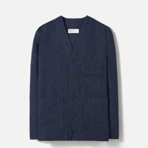 Cabin Jacket in Indigo Italian Denim
