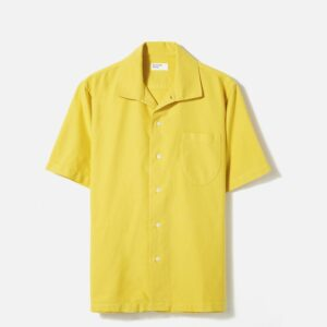 Open Collar Shirt In Sunshine Oxford Shirting