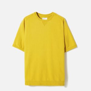 Short Sleeve Crew In Sunshine Diag Loopback