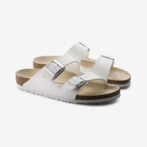 Arizona Birko-Flor Birkenstocks White