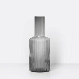 Ripple Carafe, Smoked Grey